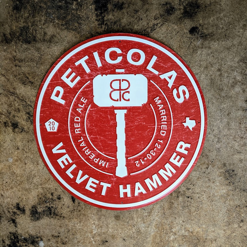 Velvet Hammer Logo Metal Sign