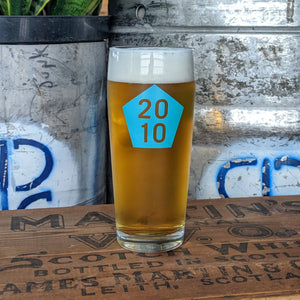 Bicycle Pump Pint Glass