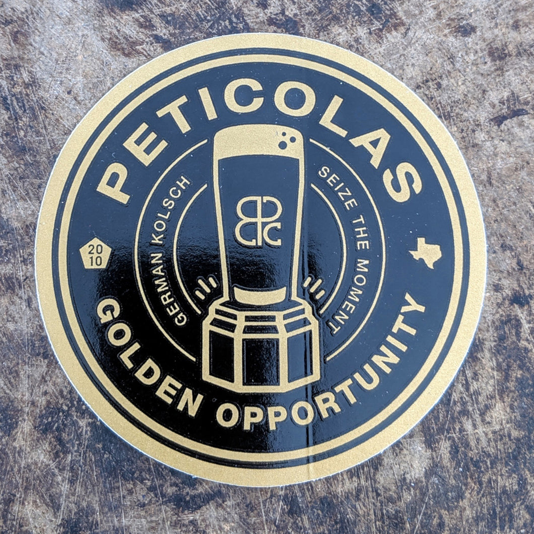 Golden Opportunity Sticker
