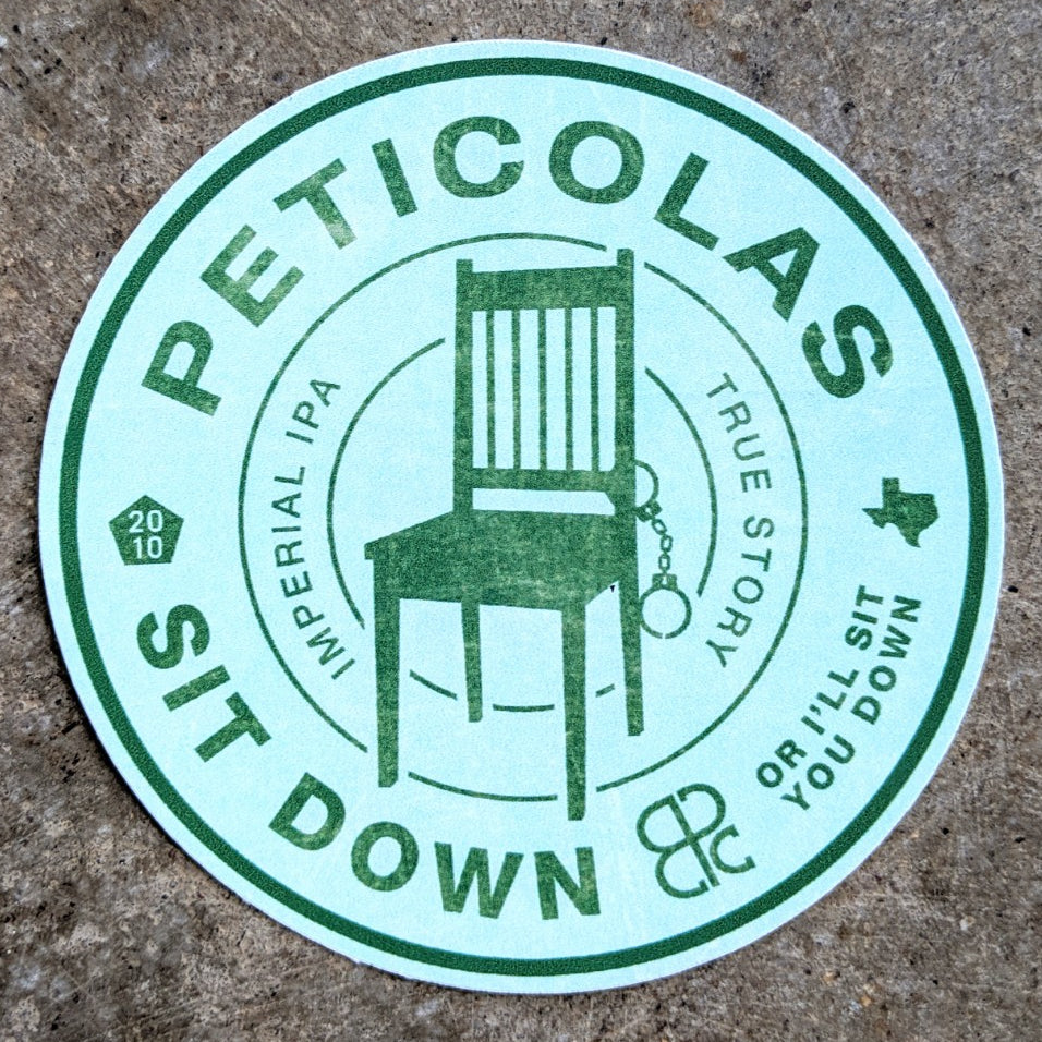 Sit Down Or I'll Sit You Down Light Sticker