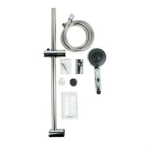 Chrome Hand held Shower with Wall Mount Slide Bar
