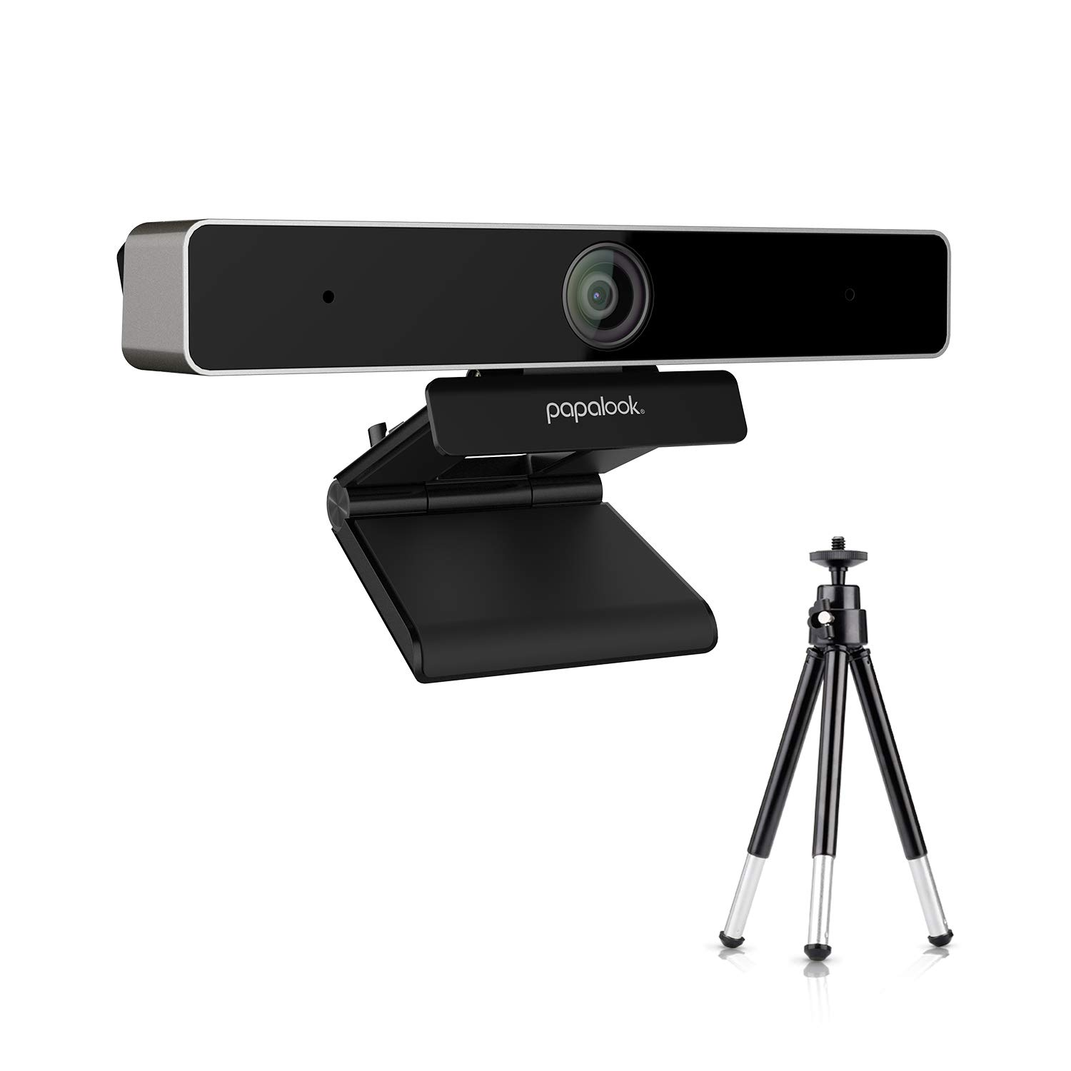 PAPALOOK PA920 2K Live Webcam with Dual Microphone, Privacy Cover and Tripod for Video Conferencing