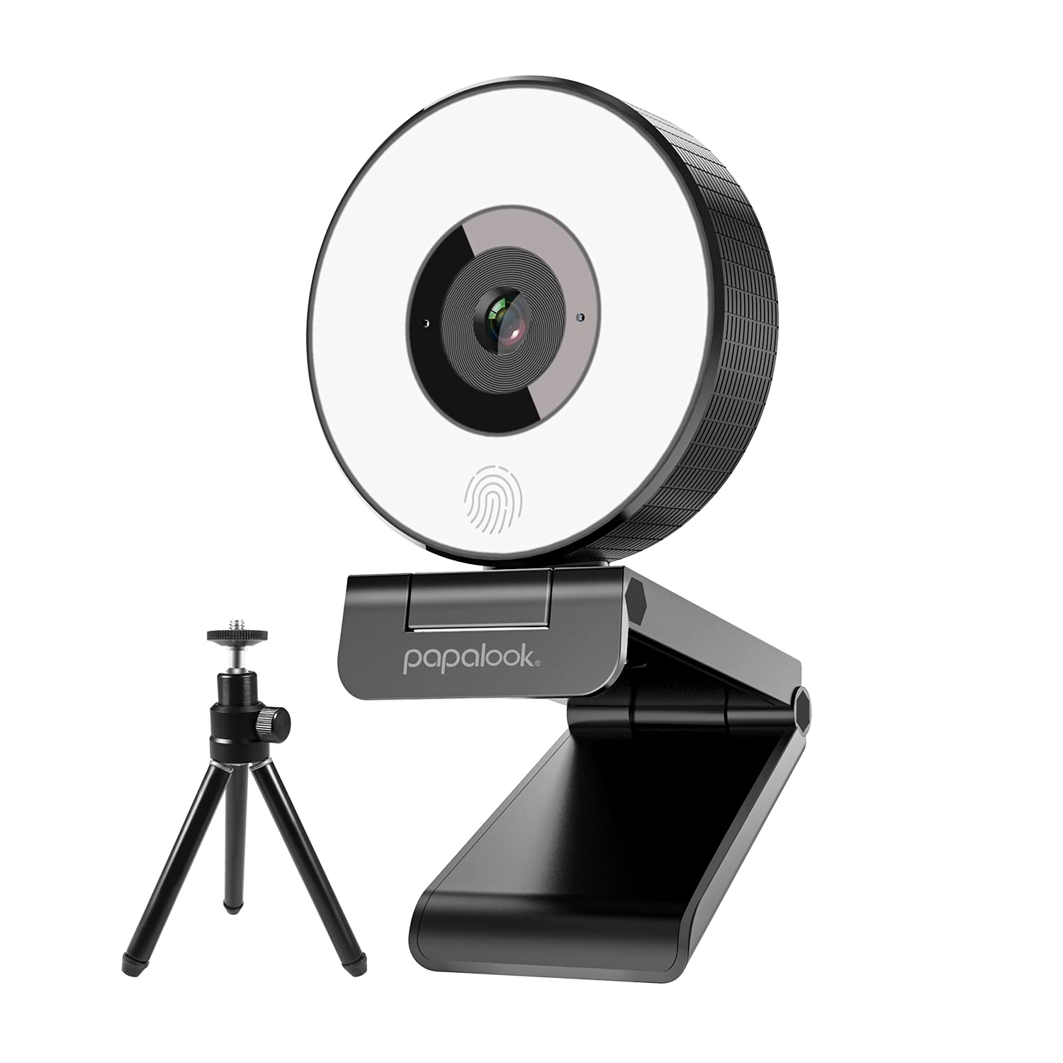 PAPALOOK PA552 Live Streaming Webcam with Ring Light