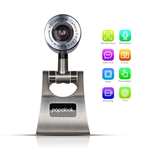 PAPALOOK PA150 720P HD Live Video Webcam with Mic