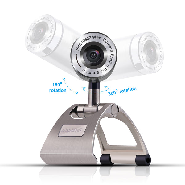 PAPALOOK PA150S 1080P Web Camera with Built-in Mic