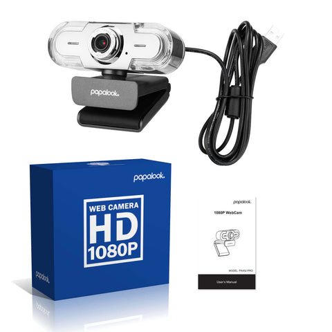 PAPALOOK PA452 USB 1080p HD Live Video Webcam with Mic