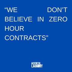 We don't believe in zero hour contracts quote