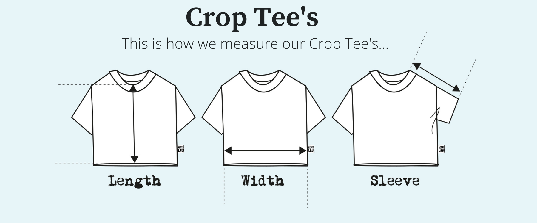 crop tee - Size inclusive for sustainable fashion brand Aesthetic Laundry