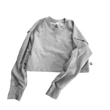 Load image into Gallery viewer, grey-crop-jumper-aesthetic-laundry