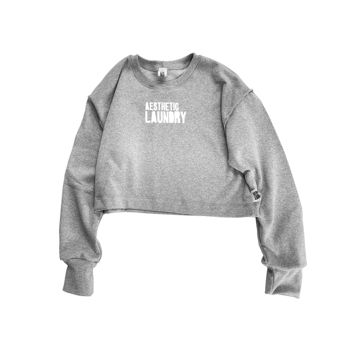 Logo Cropped Jumper - Grey
