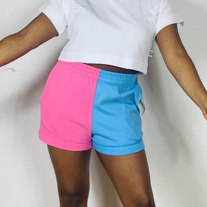 Colour Pop Shorts - Pink & Sky Blue