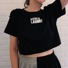 Load image into Gallery viewer, Cropped Logo T-Shirt in Black