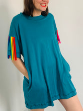 Load image into Gallery viewer, tassel-dress-teal