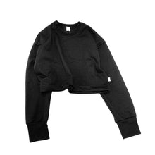 Load image into Gallery viewer, Serge All Black Elements Cropped Jumper - Black