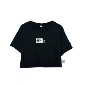 Cropped Logo T-Shirt in Black