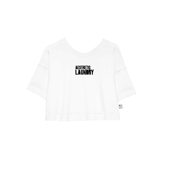 Logo Cropped Tee - White