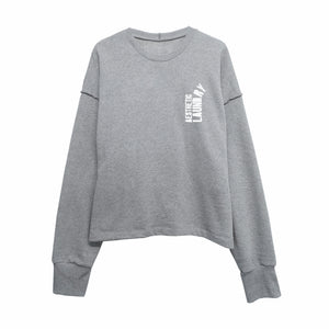 Broken Logo Jumper - Grey