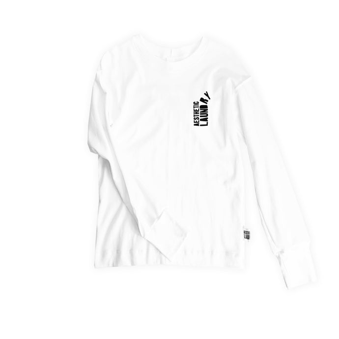 Broken Logo Long Sleeved Tee - White