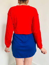 Load image into Gallery viewer, red-longsleeved-cropped-tee