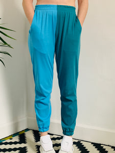 Colour Pop Summer Joggers - Teal & Sky Blue