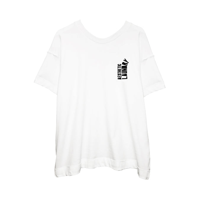 Broken Logo Tee - White