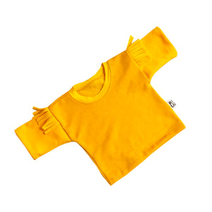 Yellow Kids Jumper with Yellow Tassels