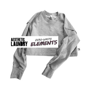 Serge All Grey Elements Cropped Jumper - Grey