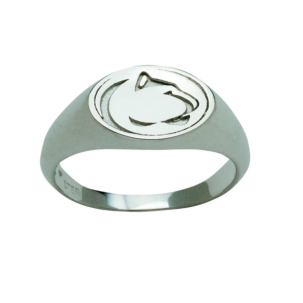Large Lion Logo Signet Ring