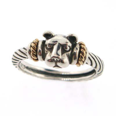 """Bold with Gold"" Lion Head Ring-Small"