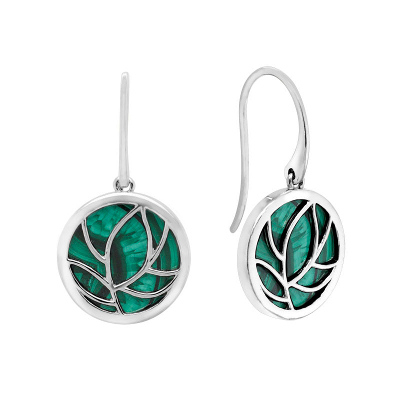 Malachite Floral Earrings