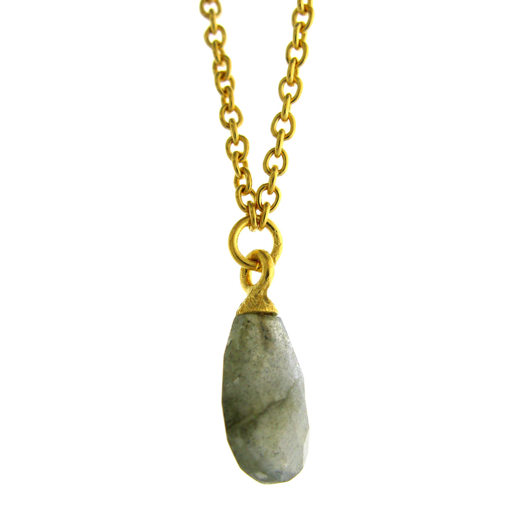 Faceted Labradorite Drop Pendant