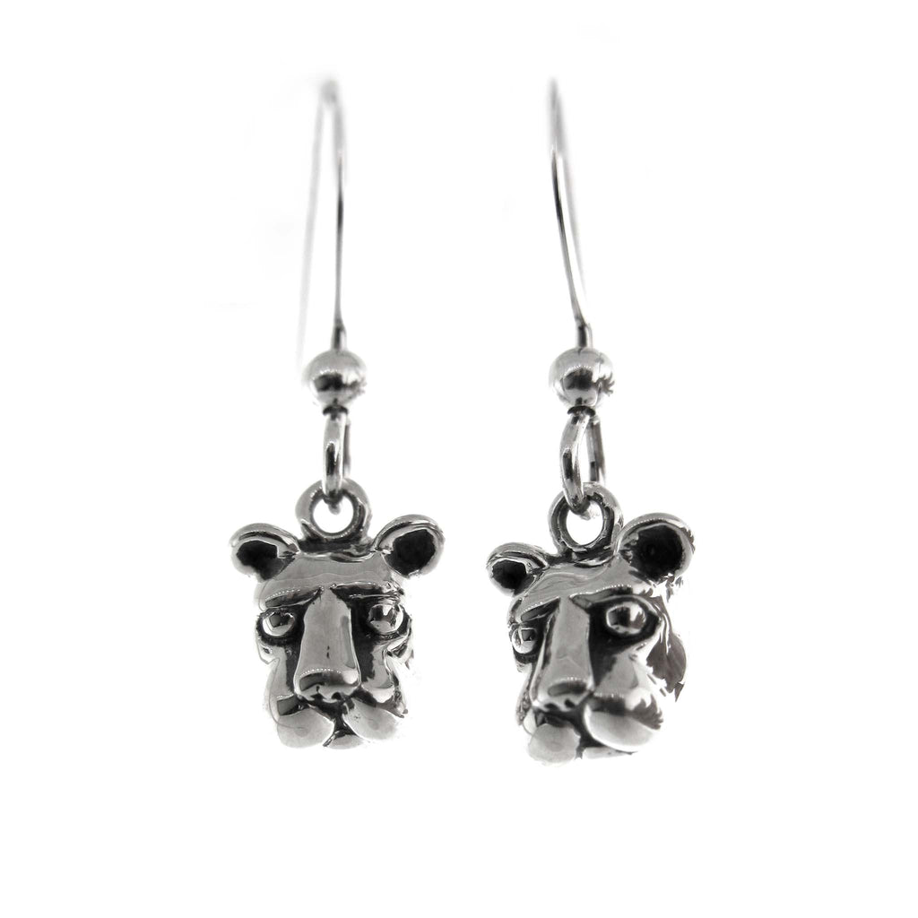 Small Nittany Lion Head Dangle Earrings