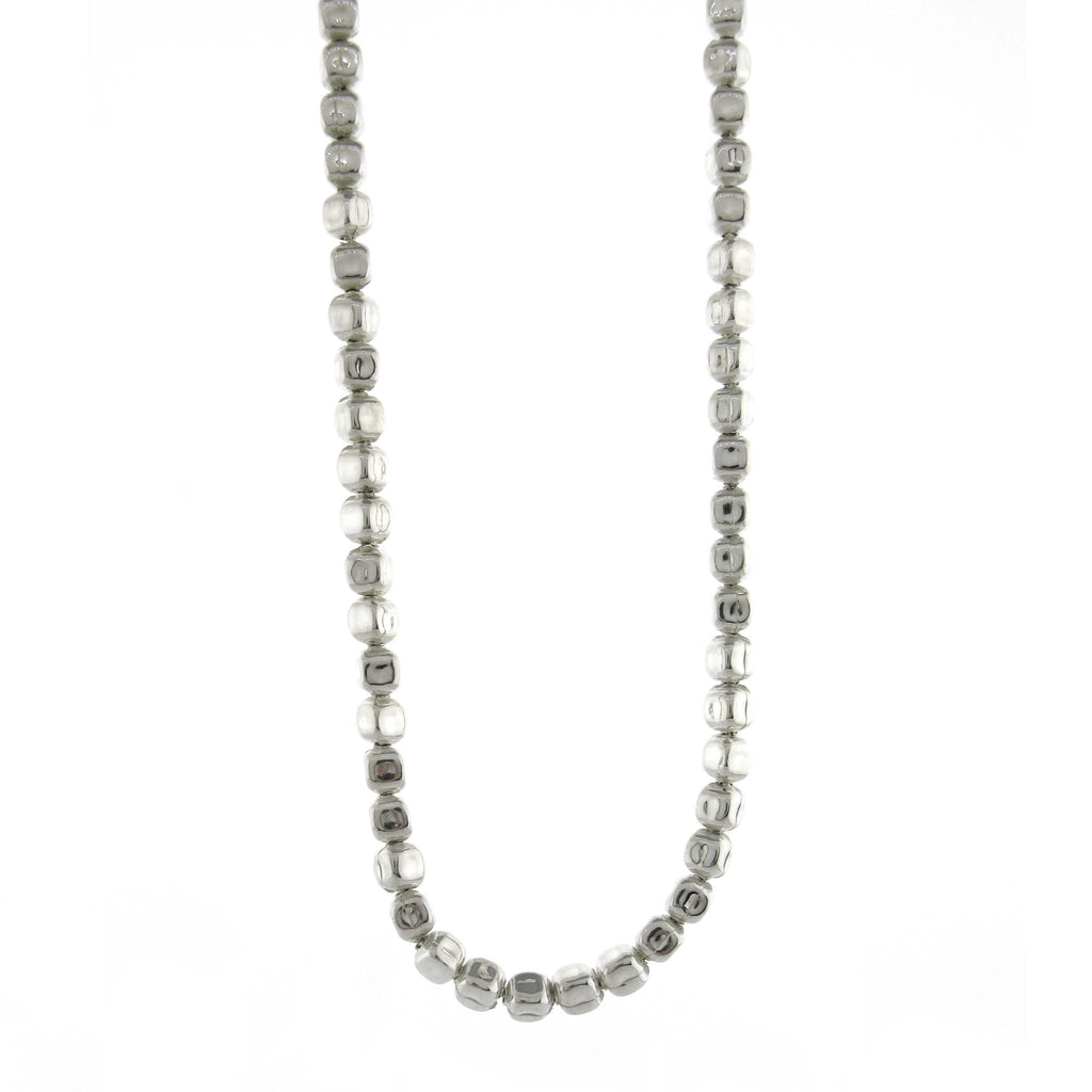 Long Square Pebbles Necklace by Zina