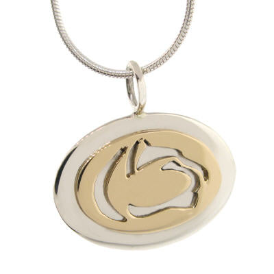 Two Tone Cut Out Lion Logo Necklace