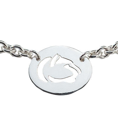 Cut Out Lion Logo Necklace with Attached Chain