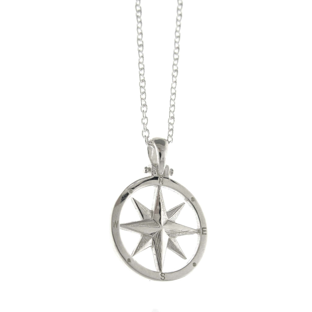 Silver Compass Rose Necklace