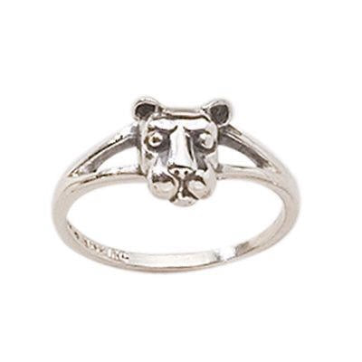 Lion Head Split Shank Ladies Ring
