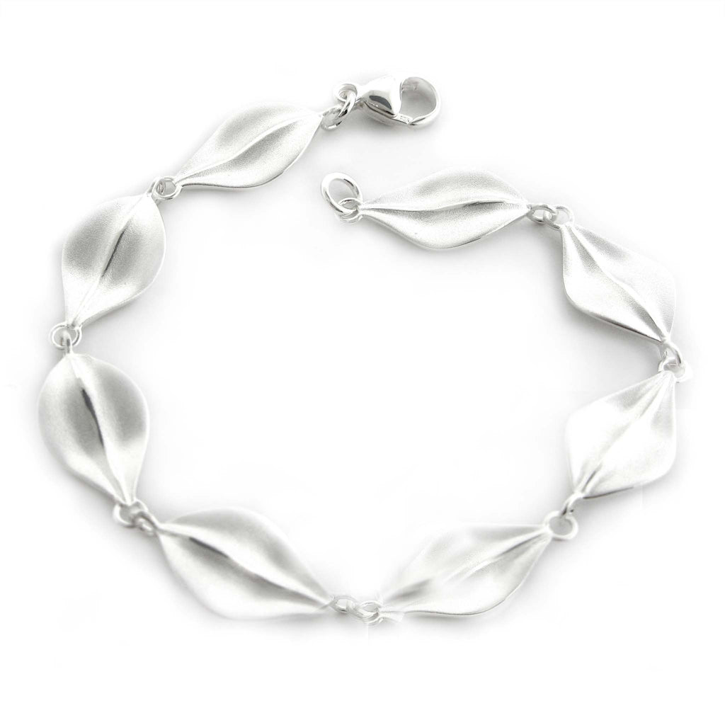 Satin Leaf Link Bracelet by Zina