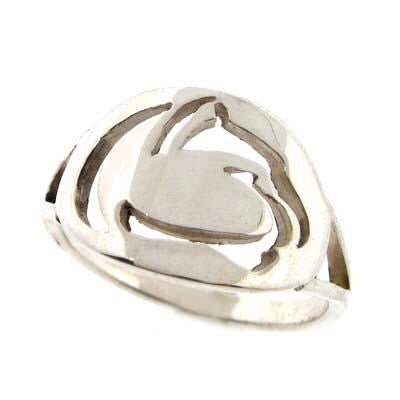 Lion Logo Cut Out Ladies Ring