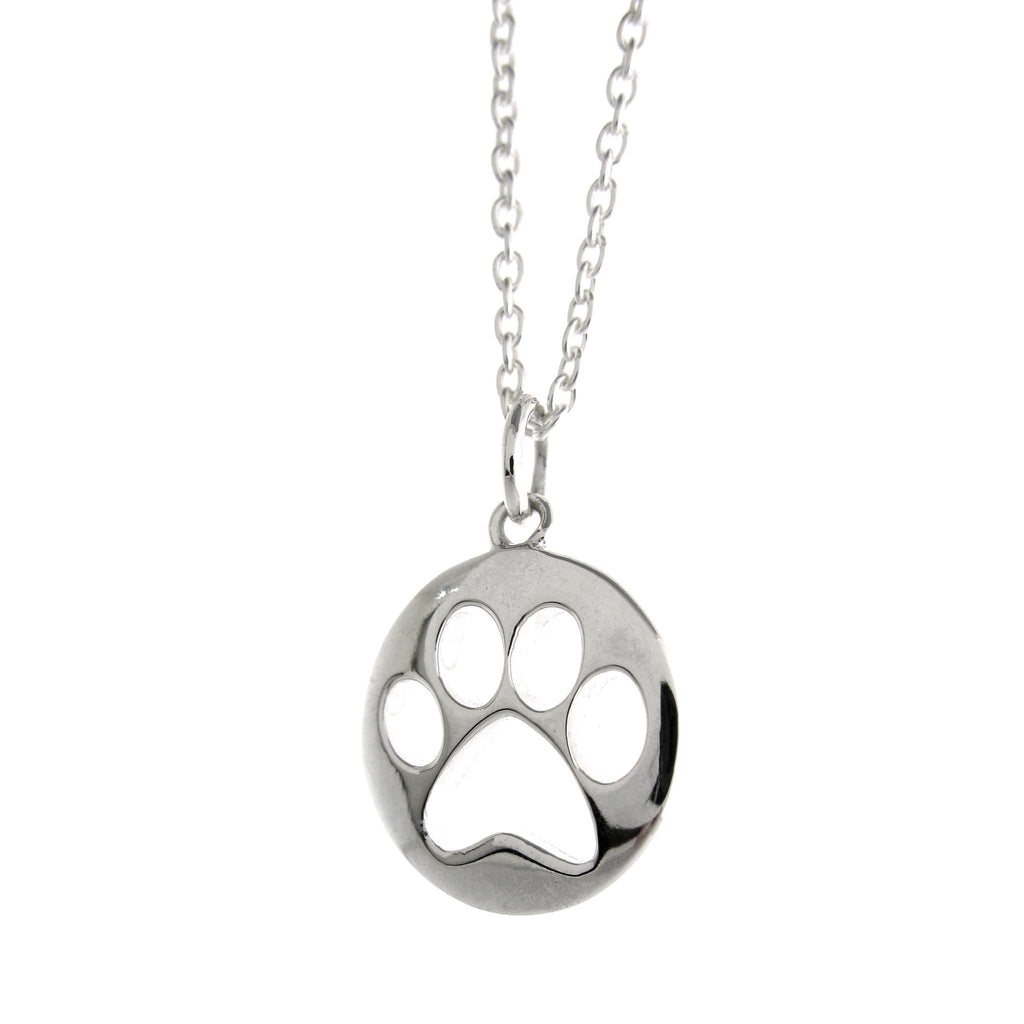 Punch Thru Paw Necklace by Zina