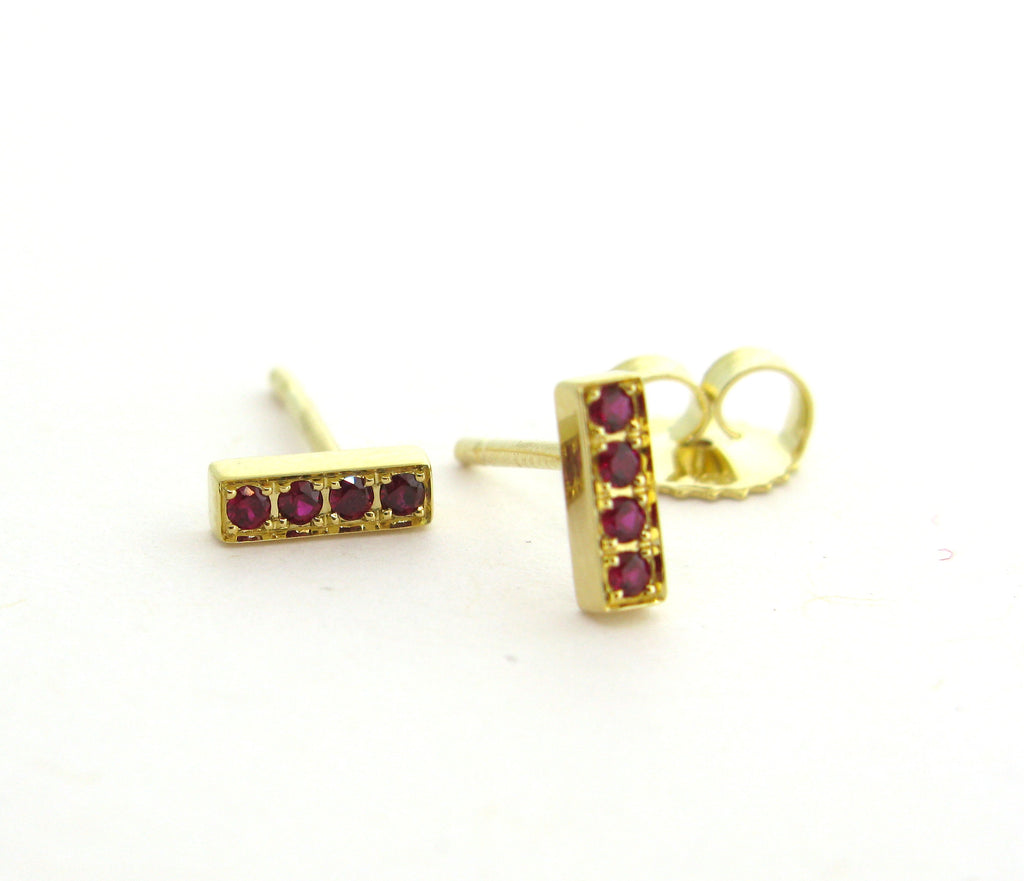 Ruby Bar Earrings