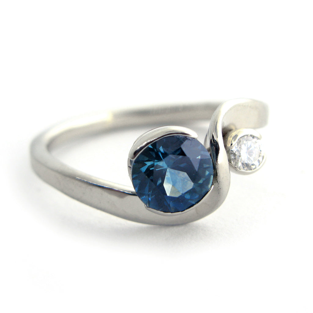 Montana Sapphire and Diamond Ring