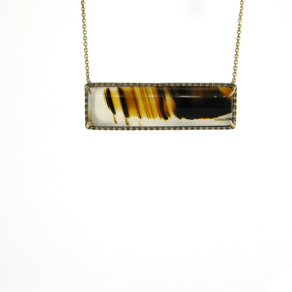 Agate and Diamond Necklace