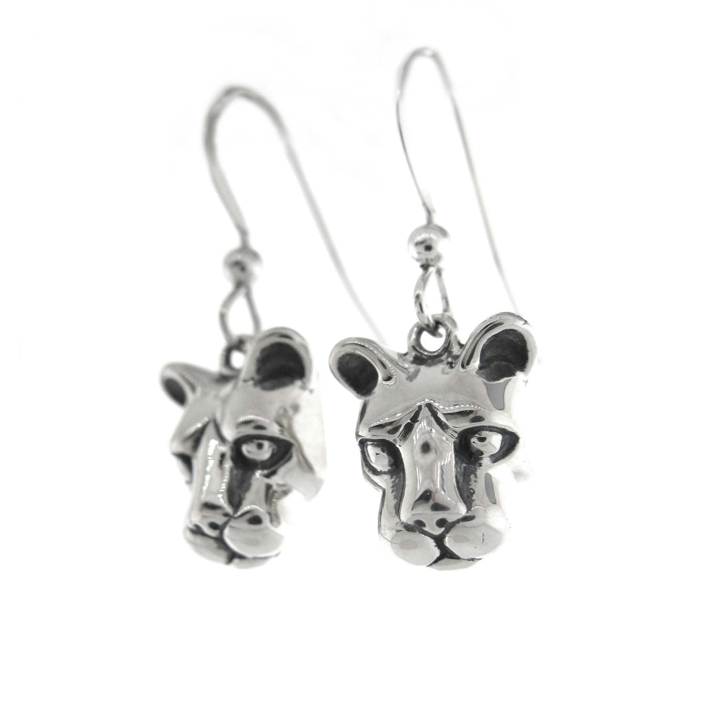 Large Nittany Lion Head Dangle Earrings
