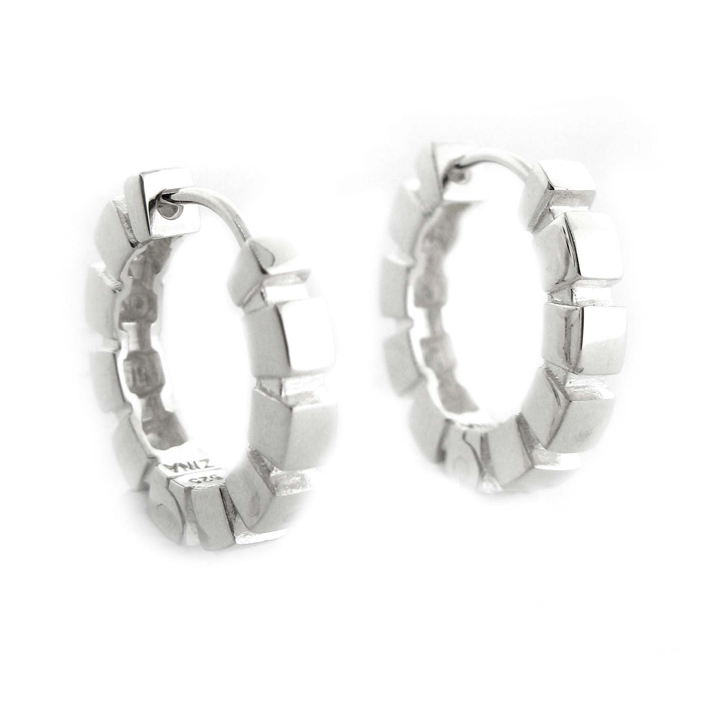 Cube Hoop Earring by Zina