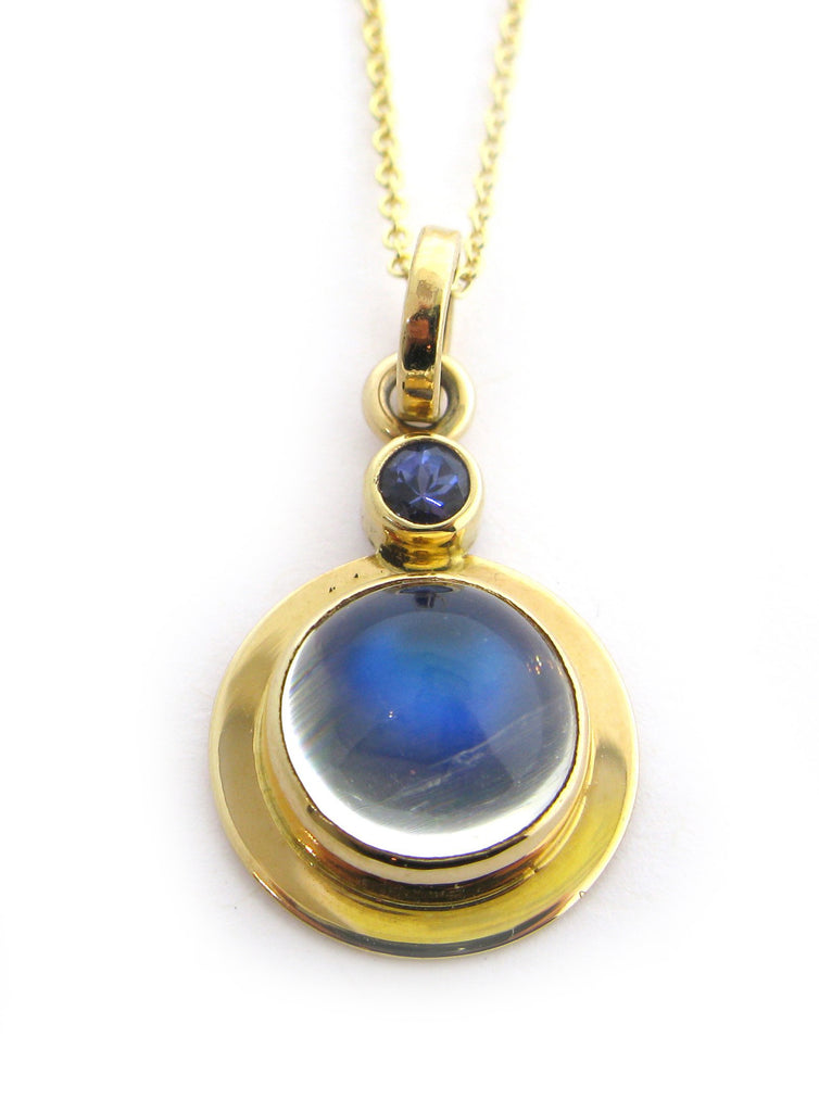 Blue Moonstone and Tanzanite Necklace