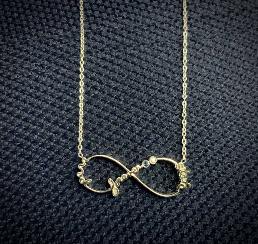 Penn State Infinity Necklace