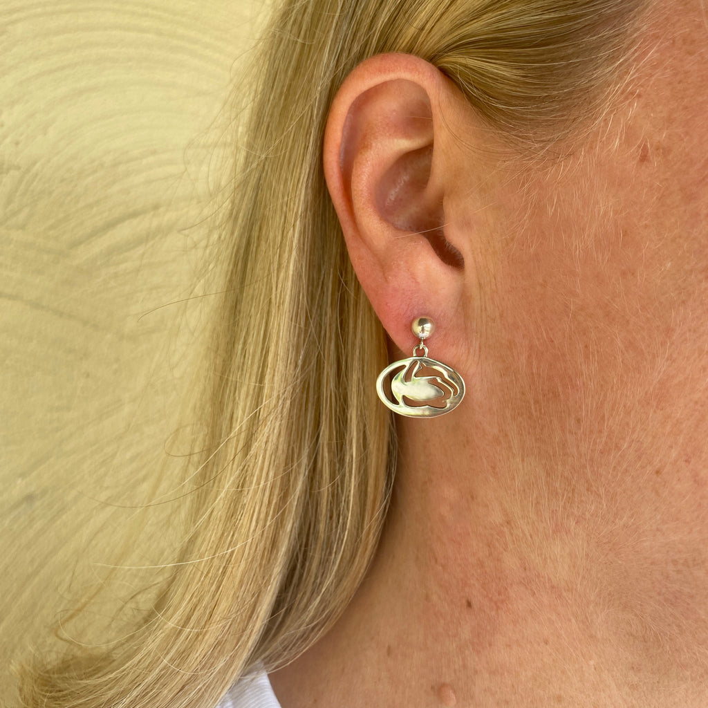 Penn State Cut Out Lion Logo Dangle Earrings