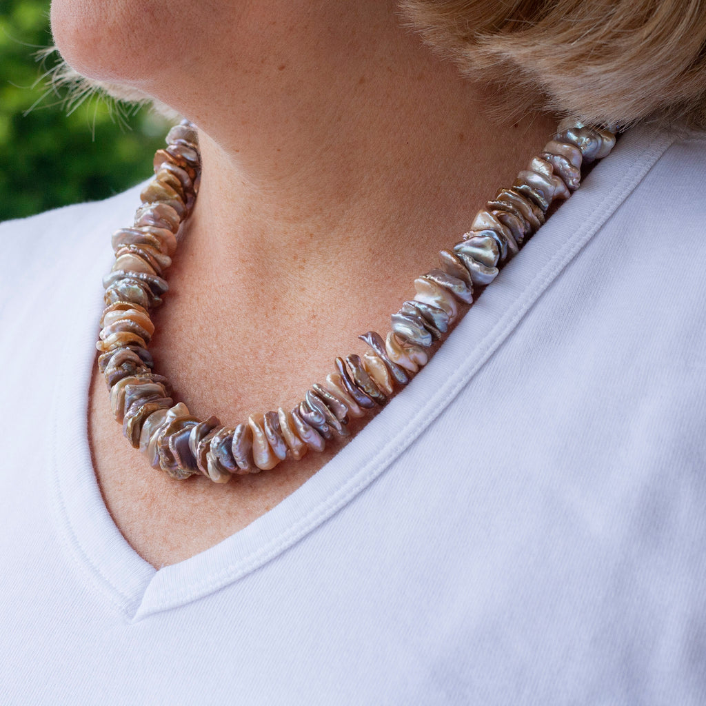 Coin Pearl Baroque Necklace
