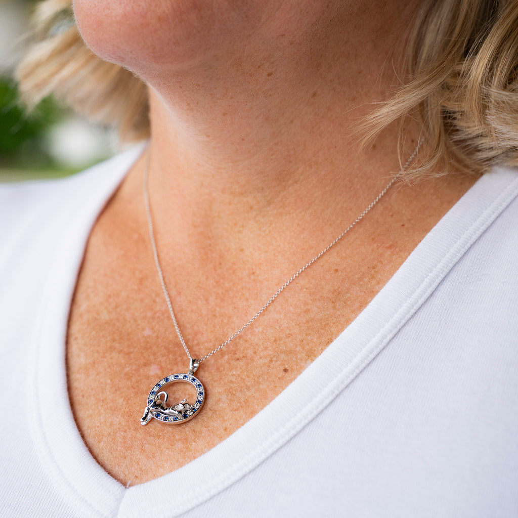 Penn State Lounging Lion Necklace